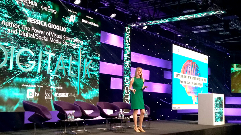 Jessica Gioglio at Digitalk 2018