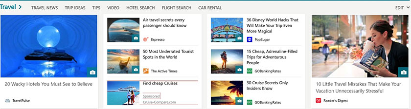 bing intent ads MSN view example